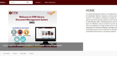 DMS vs UTM-IR: Pencarian Bahan Ilmiah Sokong Pengajaran, Pembelajaran dan Penyelidikan