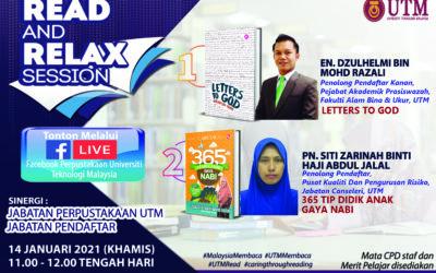 Sesi Read & Relax, Siri 1/2021, Bangunan Perpustakaan Sultanah Zanariah