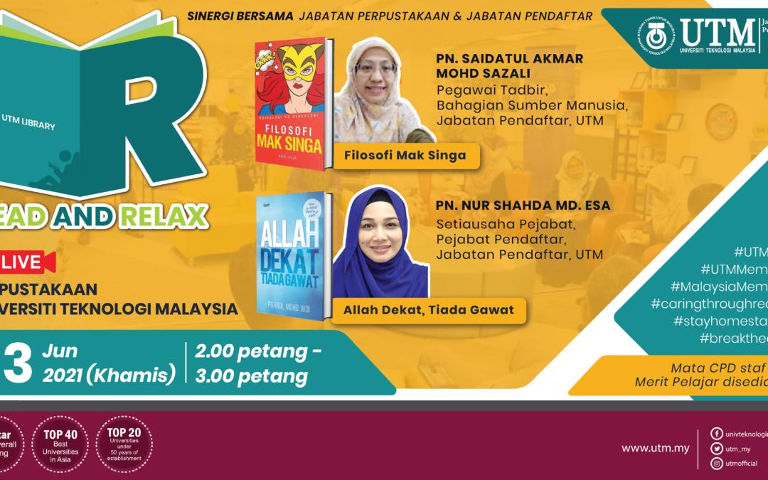 Sesi Read & Relax Siri 7/2021, Bangunan Perpustakaan Sultanah Zanariah
