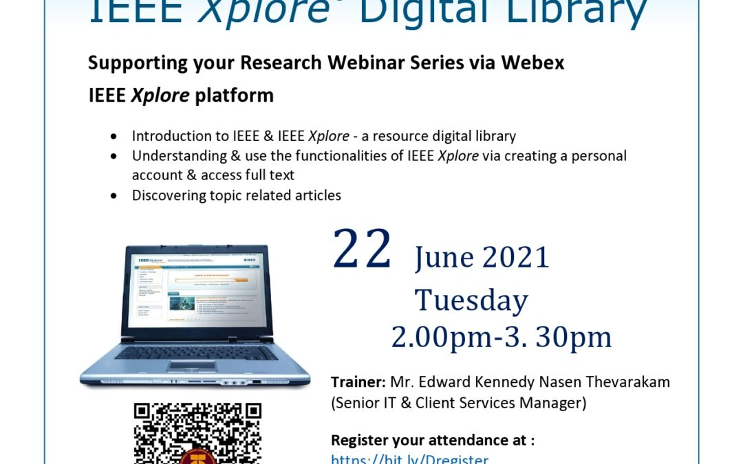 Supporting Your Research Webinar Series for June 2021