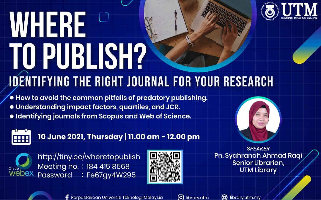 Where to Publish? Identifying the Right Journal for Your Research