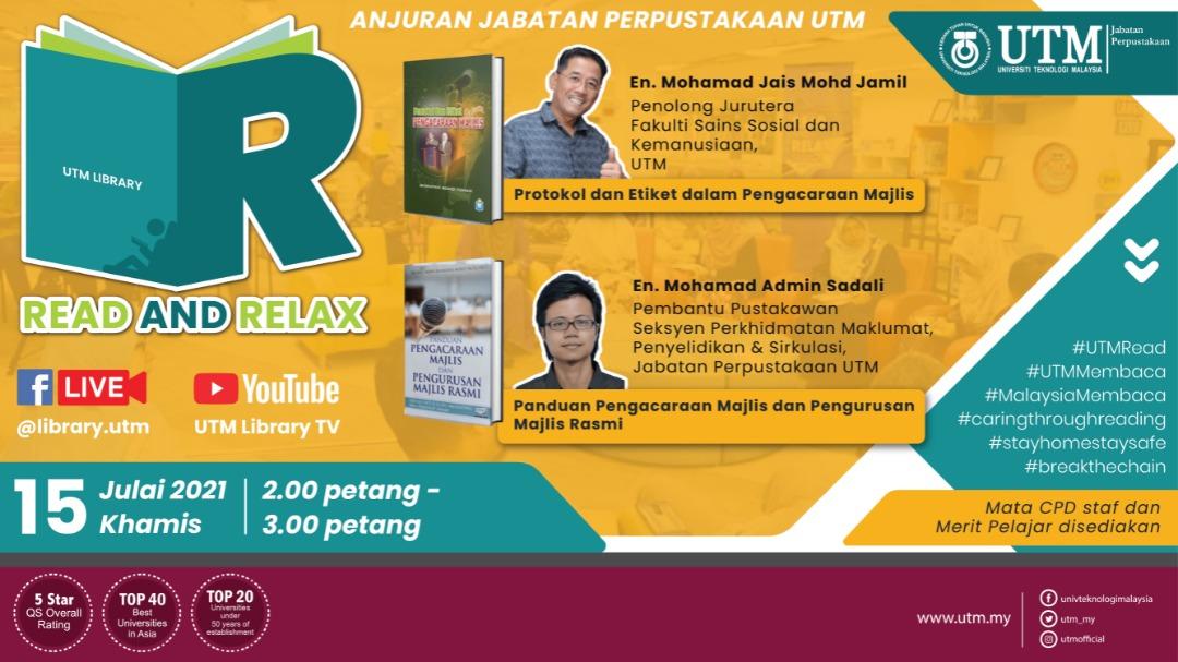 Sesi Read & Relax Siri 10/2021, Bangunan Perpustakaan Sultanah Zanariah