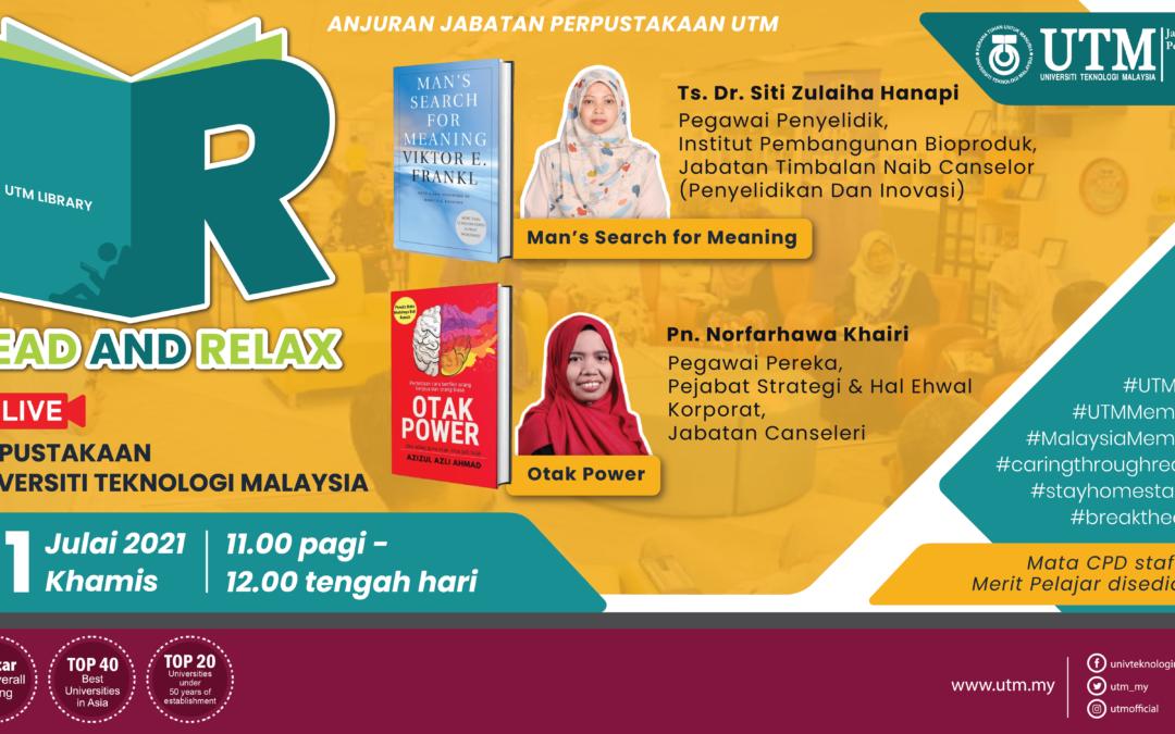 Sesi Read & Relax Siri 9/2021, Bangunan Perpustakaan Sultanah Zanariah