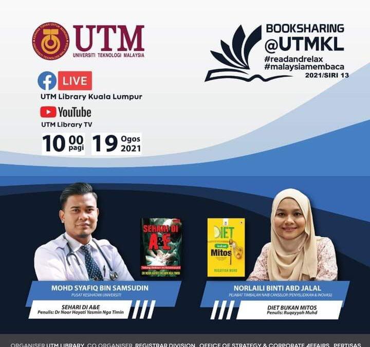 Program Book Sharing Siri 13/2021, Perpustakaan UTM Kuala Lumpur
